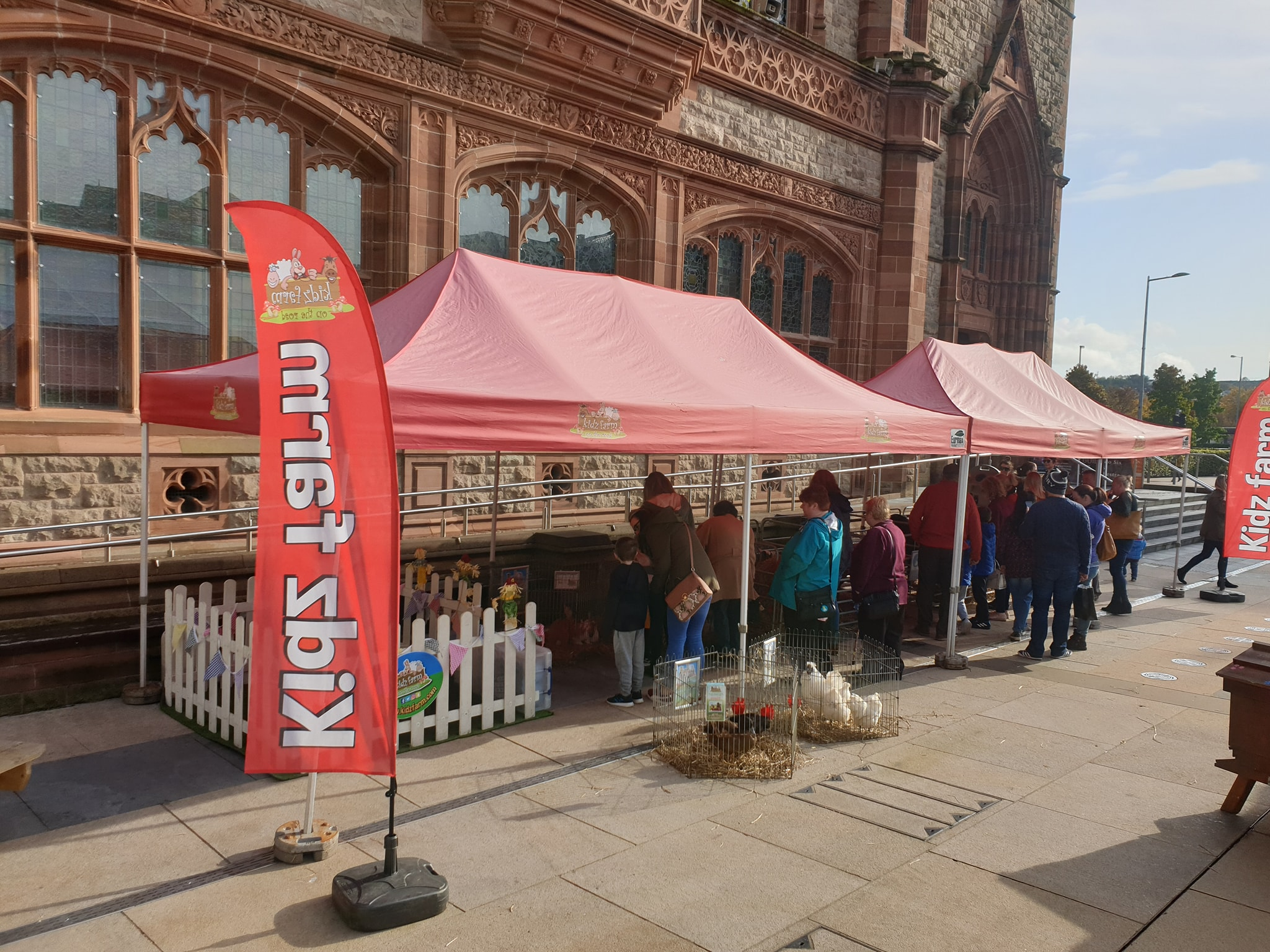 SLOWFOOD FESTIVAL  Slightly different set up today, not a snake, spider or rat in sight, at The Guildhall.