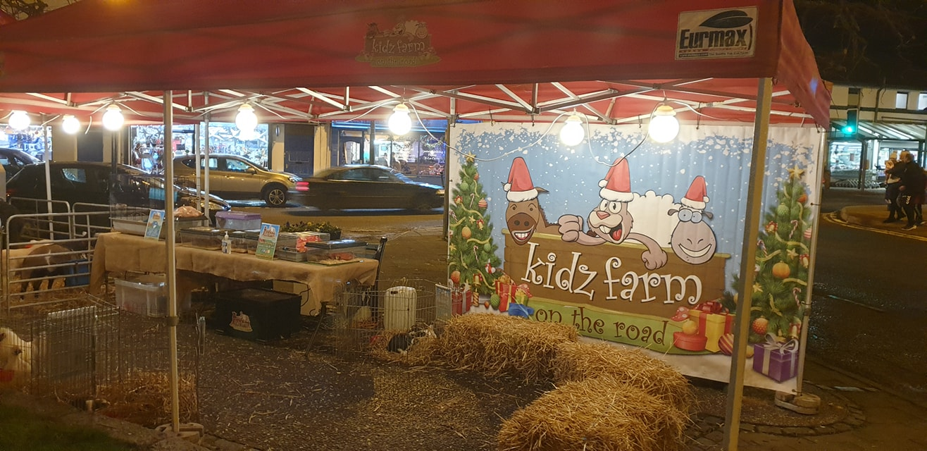 Kidz farm at Christmas….. Castlederg switch on.🎄☃️🦎🕷🦔🐌