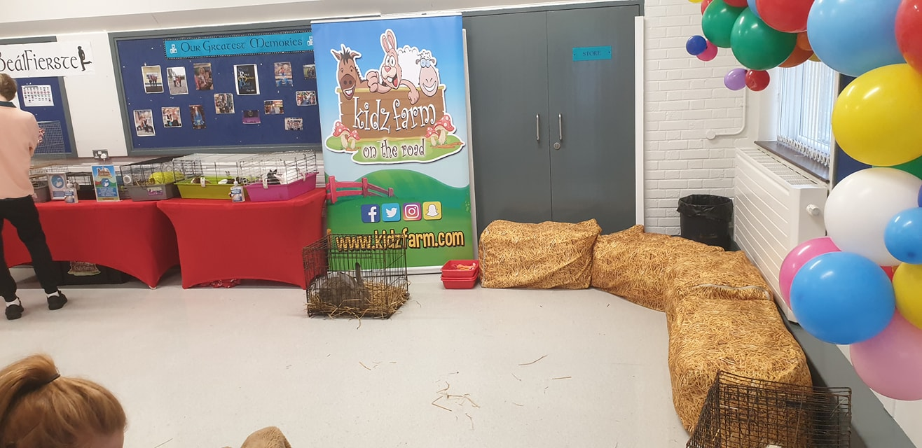 We can do our packages indoors too…….. Definitely a day to be indoors for a fantastic birthday party in Belfast. I just couldn't wait to get these new bean bag strawbales out and about.