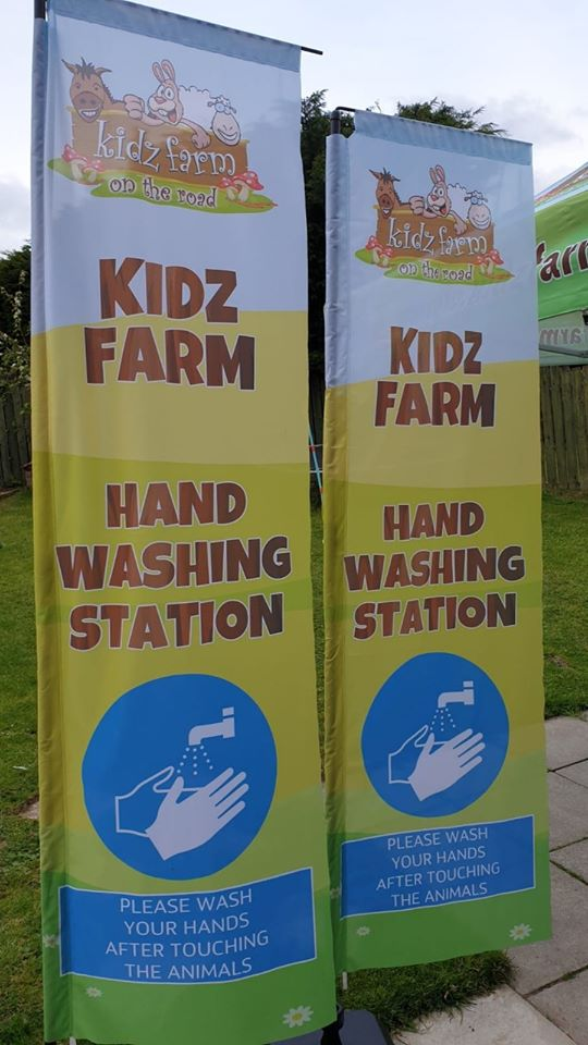 Some more preparations underway at Kidz Farm. We made lots of exciting plans for this year and we will continue to power through as many as we can! New additional flags to go with our mobile sink units…..